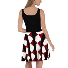 Load image into Gallery viewer, Crimson Black Women's Skater Dress by RIFY WEAR