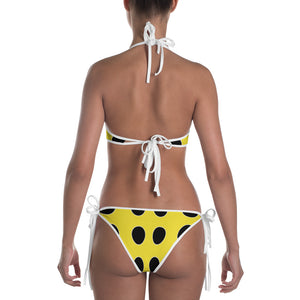 Yellow Lady Bug Dotted Bikini by RIFY WEAR