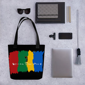 Black Wear The Foot Tote Bag by RIFY WEAR