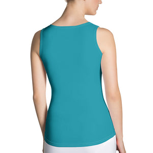 Autumn Breeze Teal Tank Top by RIFY WEAR