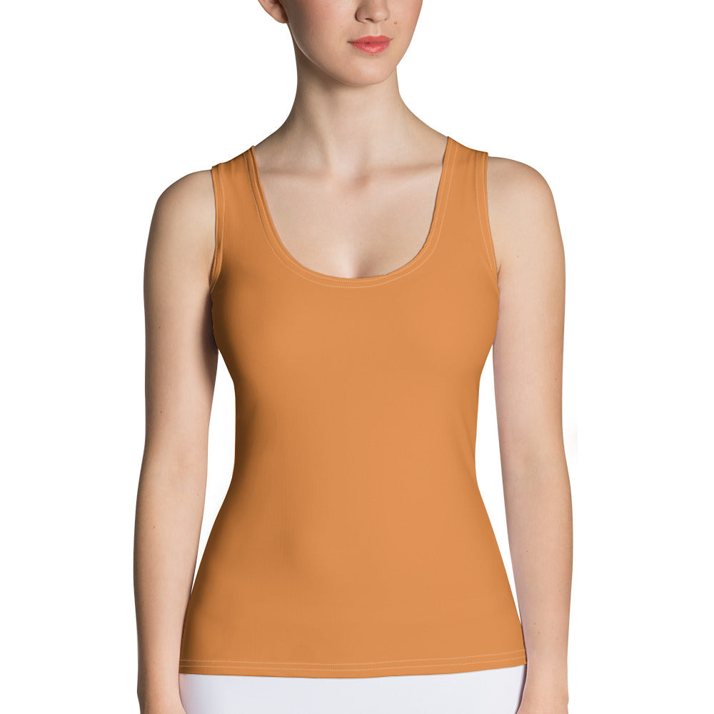 Autumn Breeze Golden Brown Tank Top by RIFY WEAR