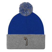 Load image into Gallery viewer, Two Toned Pom Pom Knit Cap by RIFY WEAR
