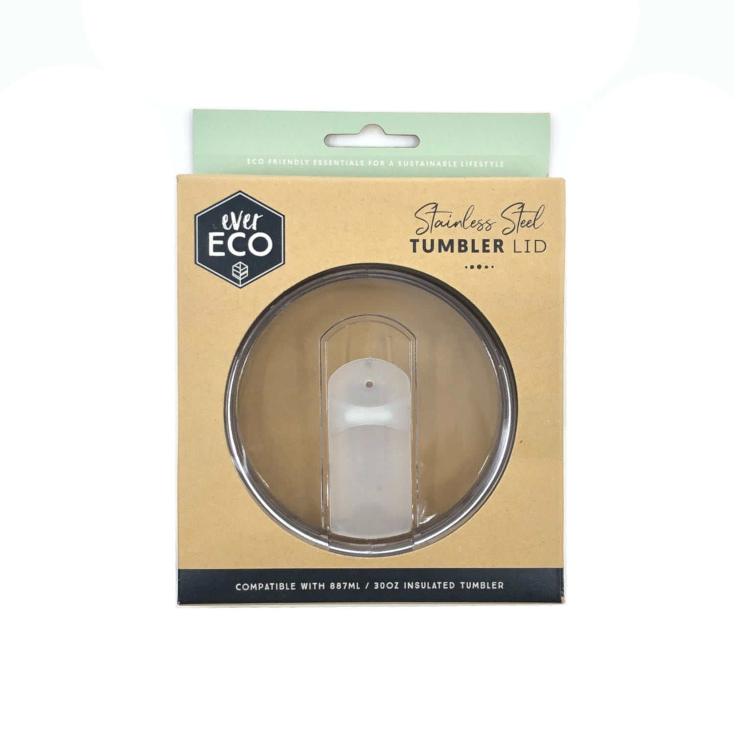 Ever Eco Insulated Tumbler Clear Sliding Replacement Lid - 887ml