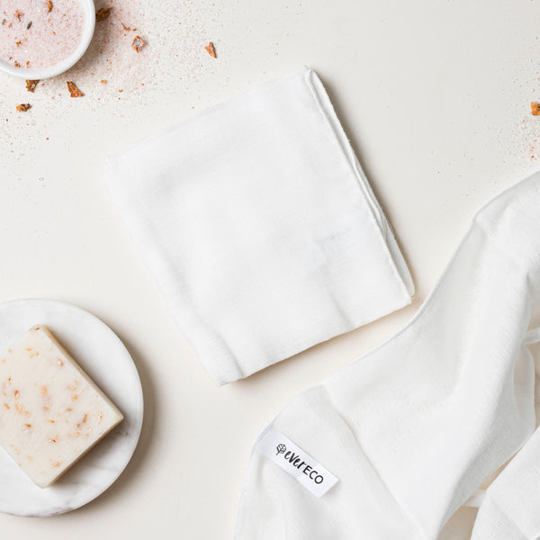 Ever Eco Muslin Facial Cloths - 2 Pack