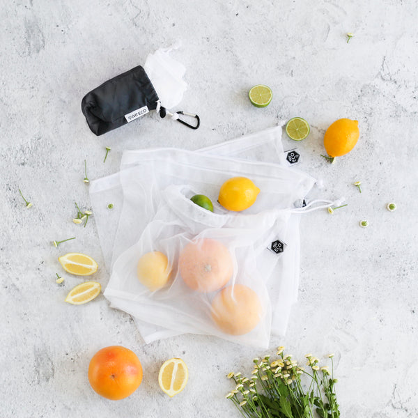 Ever Eco Reusable Produce Bags RPET Mesh - 4 Pack