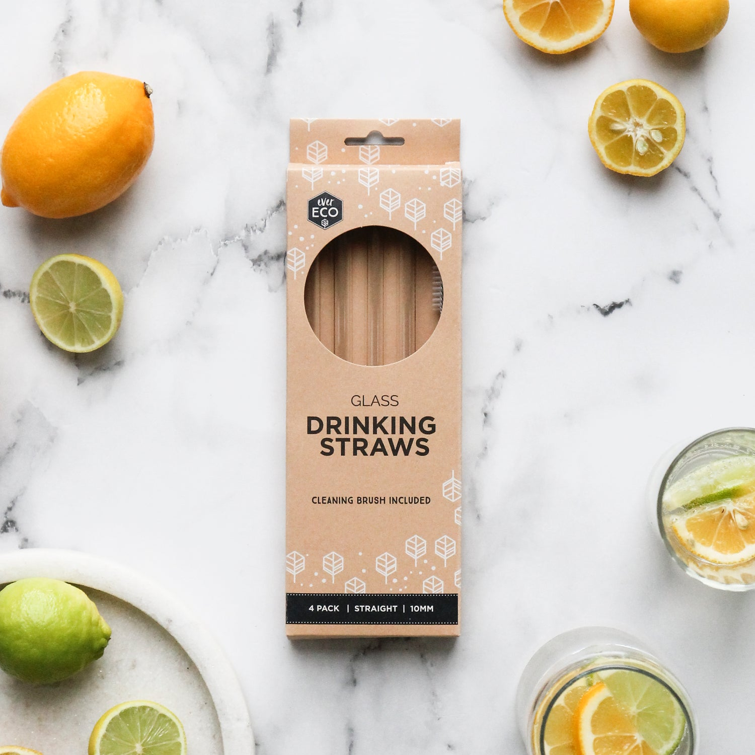 Ever Eco Glass Straws Straight - 4 pack