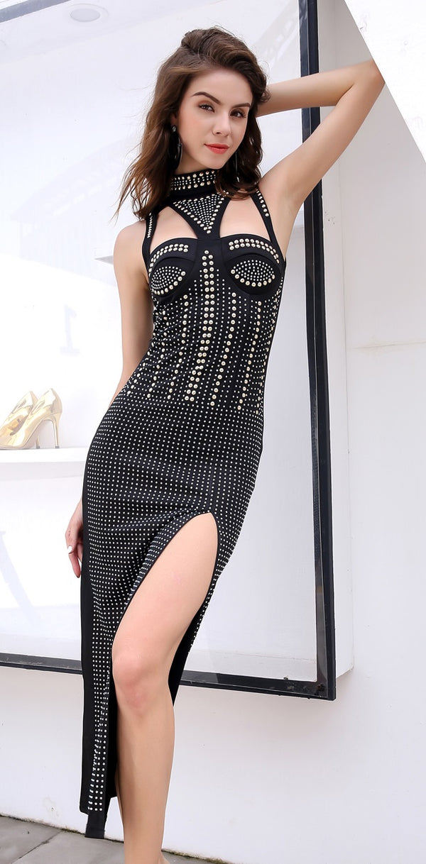 Studded Party Dress
