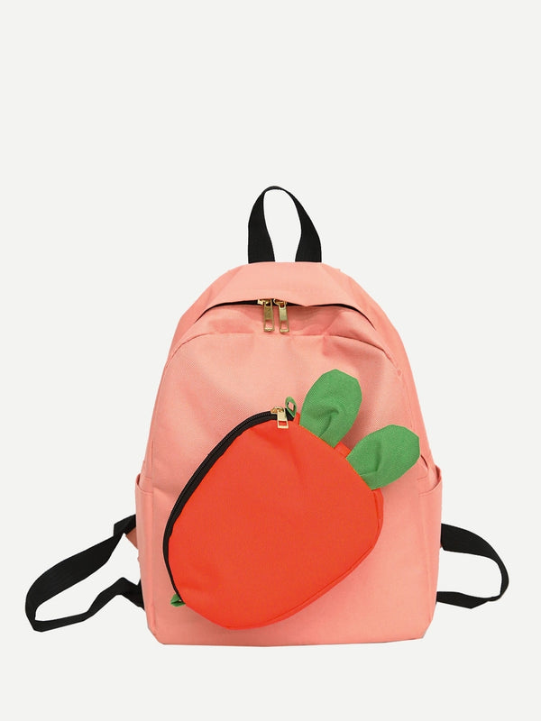 Kids Removable Carrot Design Backpack