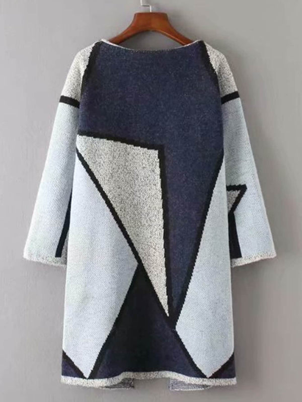Geo Pattern Long Cardigan