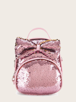 Kids Bow Decor Sequins Backpack
