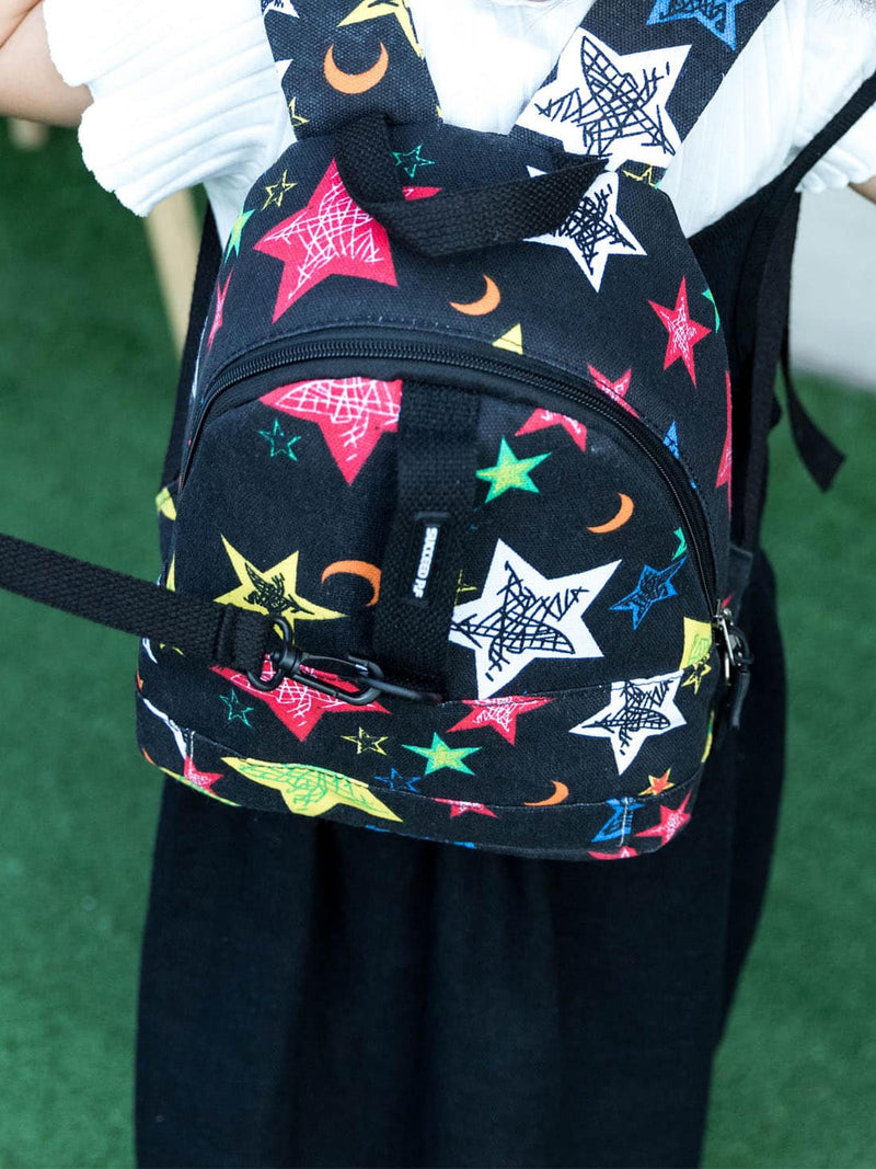 Kids Star Pattern Canvas Backpack