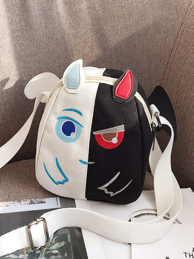 Kids Embroidered Detail Canvas Backpack