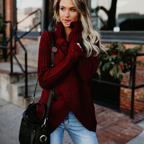 Long Sleeve Turtleneck Knitted Jumper