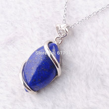 Load image into Gallery viewer, Amazing Lapis Lazuli Stone on a Silver Chain