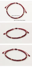 Load image into Gallery viewer, All-Natural Garnet Stone String Bracelet
