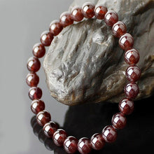 Load image into Gallery viewer, Natural Garnet Crystal Bracelet
