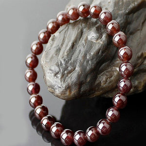 Natural Garnet Crystal Bracelet