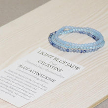 Load image into Gallery viewer, Blue Celestite Stone Bracelet
