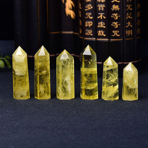 Crystal Citrine Yellow Quartz Wand