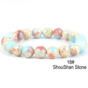 Natural Volcanic Chakra-Stone Adjustable Bracelet