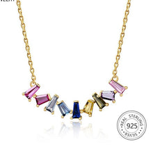 Load image into Gallery viewer, Sterling Silver Rainbow Necklace