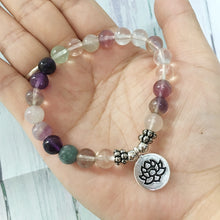 Load image into Gallery viewer, Fluorite Chakra Bracelet