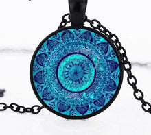 Load image into Gallery viewer, Yoga Cabochon Glass Pendant Necklace