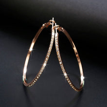 Load image into Gallery viewer, Rhinestone Hoop Earrings