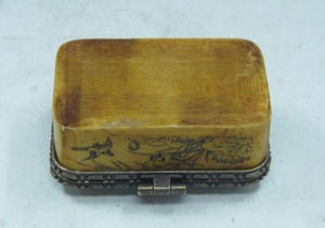 Jade Gemstone Porcelain Vintage Jewelry Box