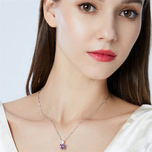 Load image into Gallery viewer, Vintage Morganite Crystal Sterling Silver Necklace