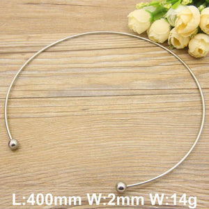 Romantic Stainless Steel Torque Necklace
