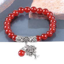 Load image into Gallery viewer, Carnelian Gemstone Tree-of-Life Bracelet