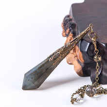 Load image into Gallery viewer, Labradorite Pendulum Necklace