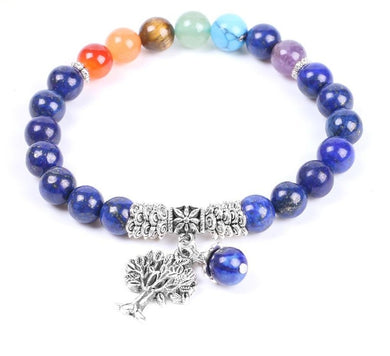 Natural Stone Bracelet ~  for 7-Chakra Reiki Healing