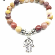 Load image into Gallery viewer, Designer Yoga Strand-Bracelet with Natural Mookaite Jasper Stones