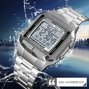 Digital Stainless Steel Sports Watch