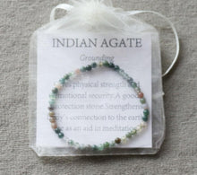 Load image into Gallery viewer, Indian Agate Gemstone Strand Bracelet