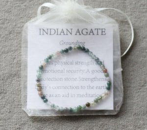 Indian Agate Gemstone Strand Bracelet