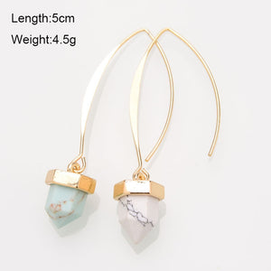 Turquoise Natural-Stone Drop Earrings