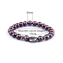 Load image into Gallery viewer, Natural Garnet Red Wine Bracelet