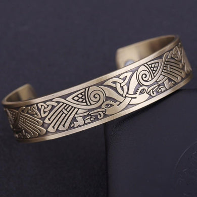 Antique-Bronze Magnetic Therapy Bracelet for Pain Relief & Arthritis