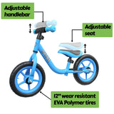 "Mamba Sport 12"" Balance Bike Blue features"