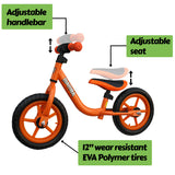 "Mamba Sport 12"" Balance Bike Orange features"