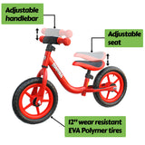 "Mamba Sport 12"" Balance Bike Red features"