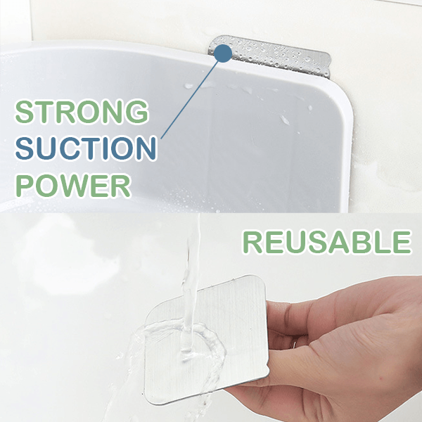 Drill-free Suction Bathroom Corner Shelf