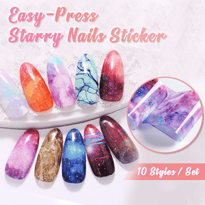 Easy-Press Starry Nails Stickers
