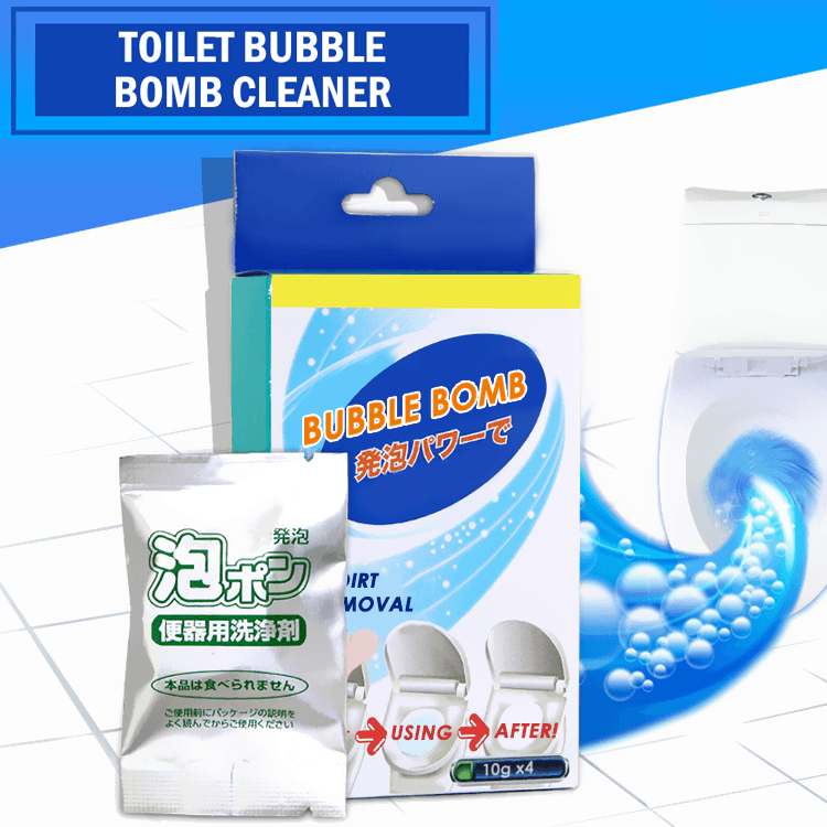 Toilet Bubble Bomb Cleaner (4PCS)