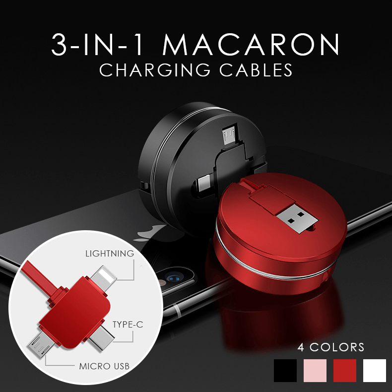3 in 1 Macaron Charging Cables