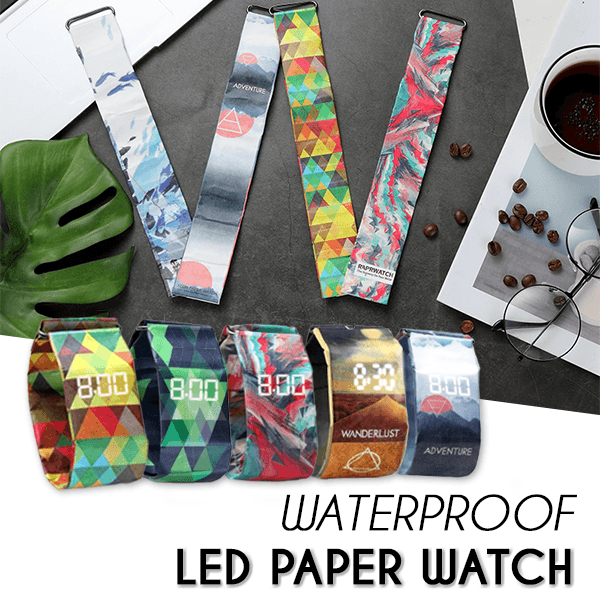 Waterproof LED Paper Watch