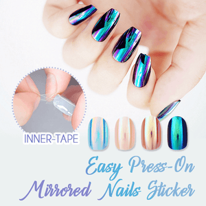 Easy Press-On Mirrored Nails Sticker
